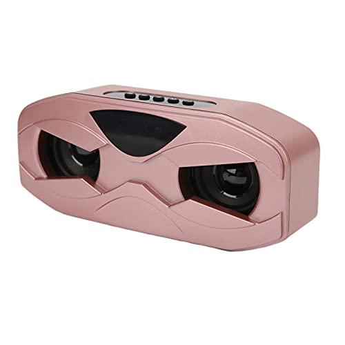 01 Altavoz del Diseño del Robot, Altavoz del Subwoofer Portátil para La Oficina para El Hogar para Al Aire Libre(Oro Rosa)