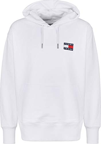Tommy Jeans Herren Sweatshirt Logo-Patch White, Größe:L, Farbe:100 White