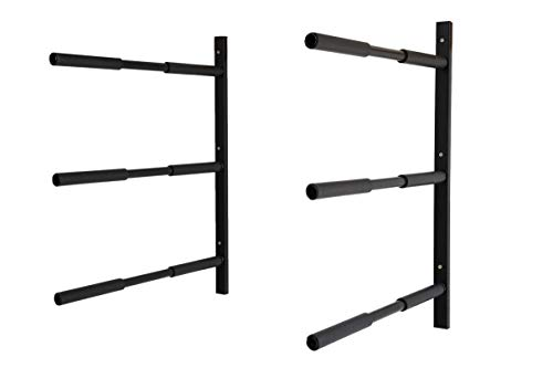 Insight Wall Mounted Surfboard Stand Up Paddle Board Rack - Steel Construction (3-Tier)