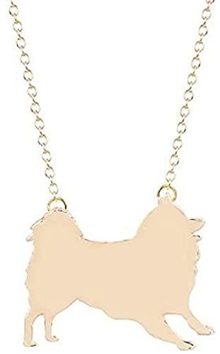 Collar Mujer Collar Hombre Colgante Collar Samoyedo de Plata U Joyas Doradas Silueta Samoyedo...