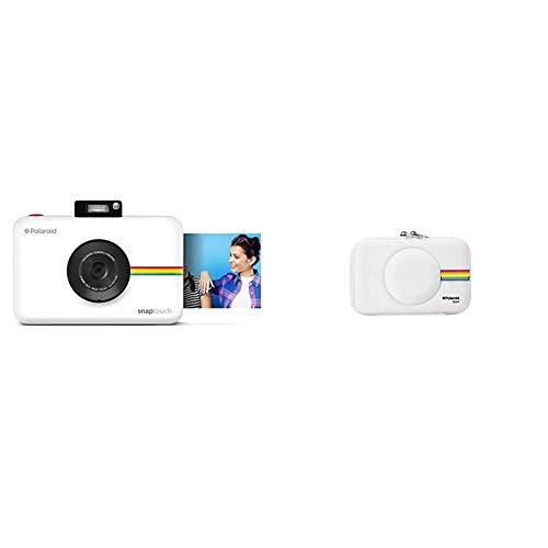 Polaroid Snap Touch - Cámara Digital con impresión instantánea y Pantalla LCD con tecnología Zero Zink + PLSNAPEVAW - Funda (Funda, Polaroid, Polaroid Snap Instant Print Digital Camera, Blanco)