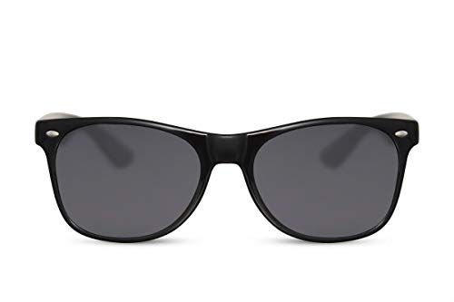 Cheapass Sunglasses Schwarz Nerd-Brille UV-400 Thug-Life Plastik Männer Herren