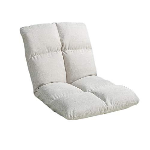 NXYJD, semplice e alla moda, divano singolo pigro, schienale pieghevole, per balcone, divano, salotto (colore: bianco)