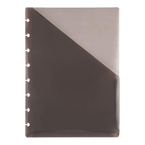 TUL Custom Note-Taking System Discbound Pocket Dividers, 5 1/2 x 8 1/2, Junior Size, Gray, Pack of 2