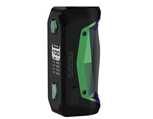 Preisvergleich Produktbild Geekvape Aegis Solo 100 W TC Box MOD Neuester AS-Chipsatz für wasserdichtes,  stoßfestes 100% authentisches No Nicotine E-Cigarette MOD (Grün-)