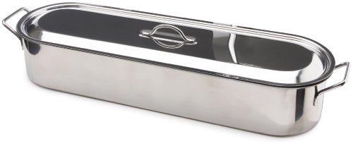 Beka 14700034 - Pesciera in Acciaio Inox con griglia, Adatta a Tutti i fornelli e induzione, Diametro: 60 cm