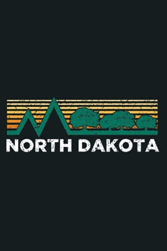 North Dakota Vintage Pine Outdoors Souvenir Premium: Notebook Planner - 6x9 inch Daily Planner Journal, To Do List Notebook, Daily Organizer, 114 Pages