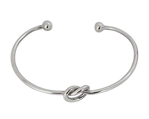TreasureBay Damen-Armreif Sterling-Silber 925 mit Liebesknoten