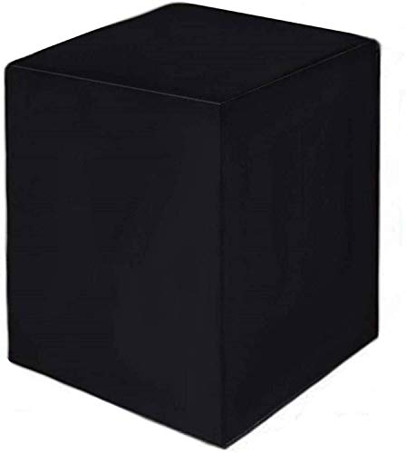 Cubiertas De Muebles De Jardín Cubierta De Muebles De Patio Impermeable Rectángulo, Paño Oxford Anti-UV Cubra Protectora De Muebles Durables Negro