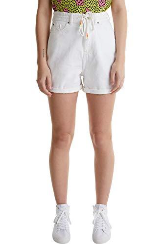 edc by ESPRIT Damen 040CC1C318 Shorts, 100/WHITE, 26