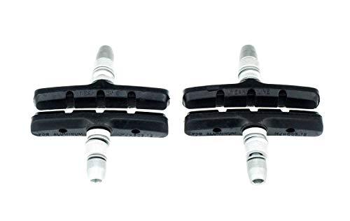ALHONGA Fahrrad V-Brake Bremsbeläge Bremsschuhe 60 mm symmetrisch schwarz NEU 2 Paar