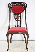 dn-2 1920年代イギリス製アンティーク アールヌーボー マホガニー ダイニングチェア チェア 彫刻 椅子