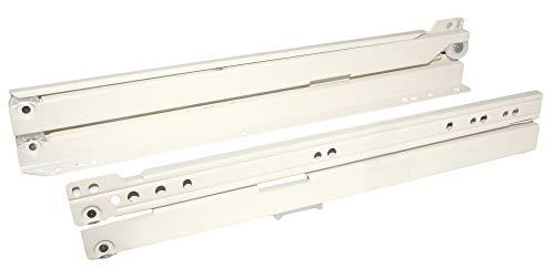 HKB Schubladenschiene Vollauszug 400mm Rollschubführung für Schubladen, hohe Tragkraft, cremeweiß, Hersteller Sencys, Artikel-Nr. 2744682