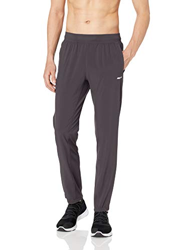 Amazon Essentials Men's Stretch Woven Training Pant, Charcoal, Medium