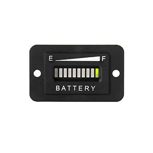 Jayron Indicador de Medidor de Batería de Plomo ácido Medidor/Medidor de Capacidad de Batería,Alerta de Descarga de Batería Digital LCD Universal,Uso para Carrito de Golf,etc (12/24V)