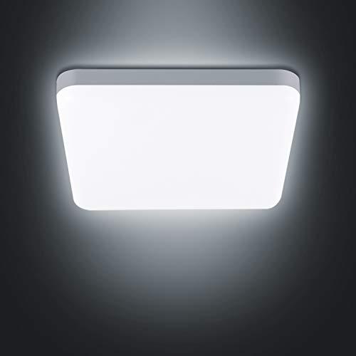 Combuh LED Lámpara de Techo 20W Impermeable IP56 Blanco Frío 6000K 1600Lm Cuadrado Plafon LED para...
