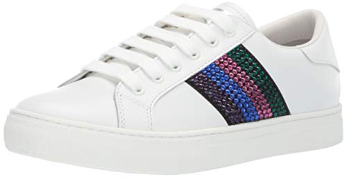 Marc Jacobs Women's Empire Strass Low TOP Sneaker, White/Pink Multi, 38 M EU (8 US)