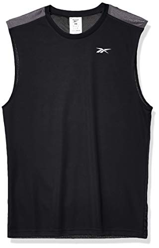 Reebok Herren Trainings-T-Shirt, ärmellos, Herren, Ärmellos, Workout Ready Sleeveless Tech Tee, schwarz, Small