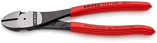KNIPEX 74 01 200 Kraft-Seitenschneider schwarz atramentiert mit Kunststoff überzogen 200 mm