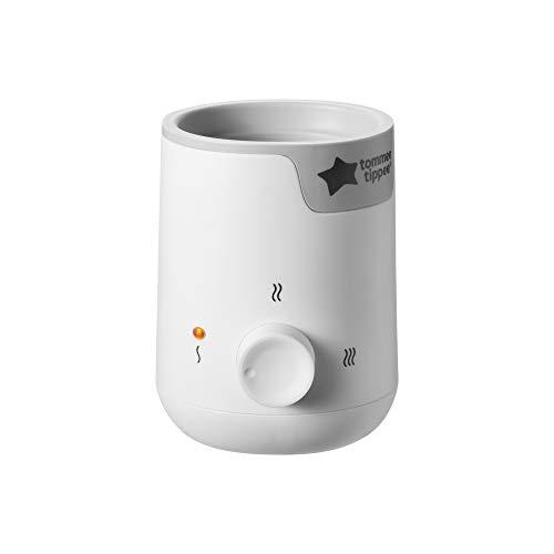 Tommee Tippee Easi-Warme flesjes en verwarmer voor babyvoeding, snelle opwarmtijd en 2 temperatuurniveaus, wit