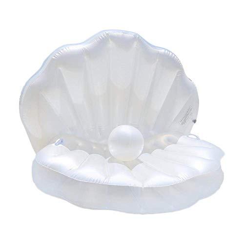 Eupaja Umweltfreundliche aufblasbare Schale PVCs aufblasbare Schwimmtiere, Sich hin- und herbewegendes Bett der Kamm-Muschel, erwachsenes Wassercouch des Luftbetts