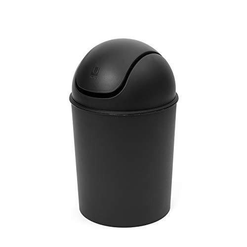 Umbra Mini Waste Can 1-1/2 Gallon with Swing Lid, Matte