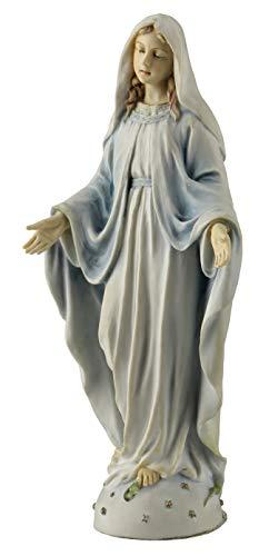 PALAZZO INT , Statue, Statuette Maria, Madonna, Veronese Collection WU76252AA, auf Weltkugel und Schlange Keramikmasse mit Handbemalung