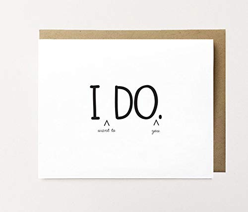 I Do Card Naughty Husband To Be Card Naughty New Husband Card Funny Newlywed Card Just Married Card Dirty Fiancé Card Funny I Do Card Greeting Card 5 x 7 In