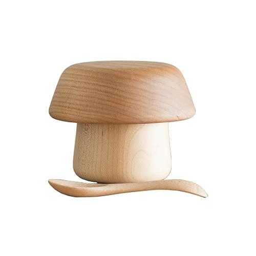 スナオラボ 木の器きのこのうつわ3点セット 赤茶(チェリー)