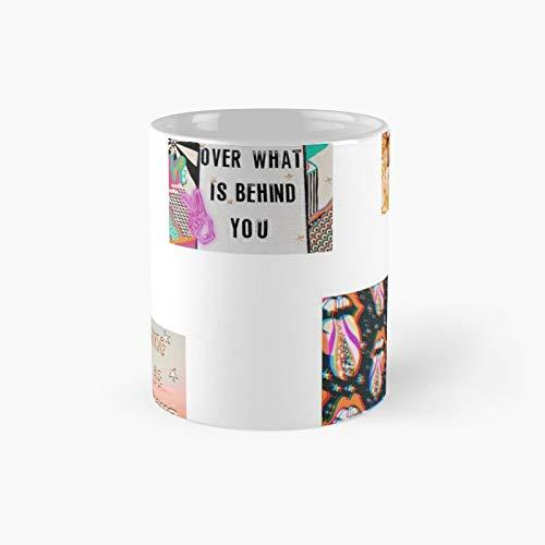 Vsco Citas Sticker Pack clásico taza mejor regalo tazas de café divertidas 11 oz