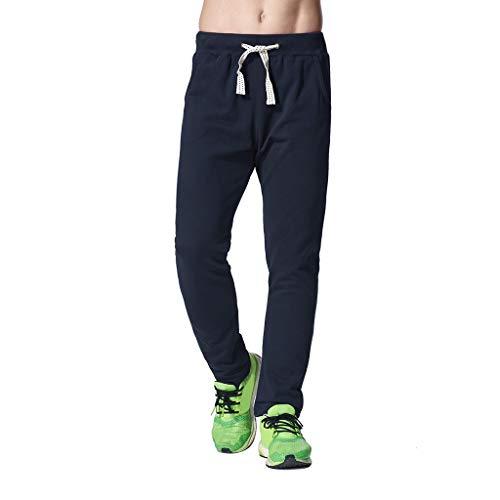Tefamore Nouveau été Shorts Solides Sport Respirant Grande Taille Pantalons Simple d'homme(Bleu foncé,X-Large)
