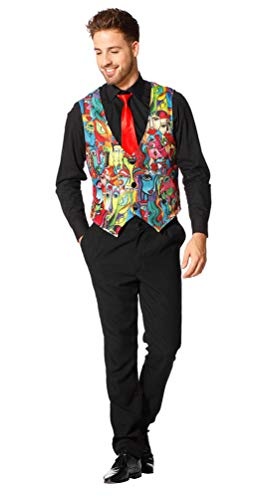 Karneval-Klamotten Bunte Weste Karneval Herren Kostüm Picasso große größen