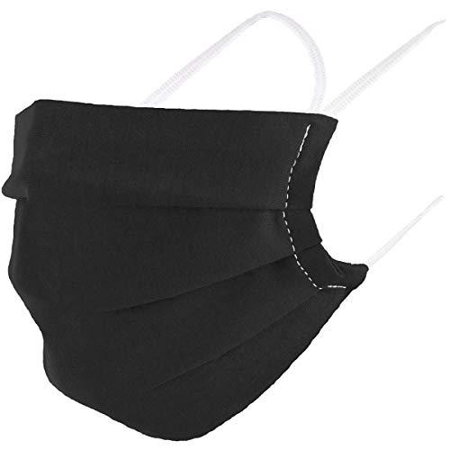 VOID Community Maske Mundbedeckung 100% Baumwolle Öko-Tex Herren Damen Kinder Gesichtsmaske Nase Mund Abdeckung, Farbe:Schwarz, Masken Größe:Erwachsene