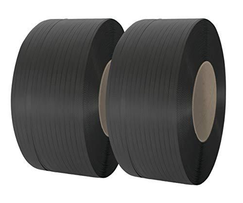 erka 2118N - Rollos de cinta de fleje (2 unidades, polipropileno, 16 mm de ancho, 0,65 mm de grosor, núcleo de 200 mm)