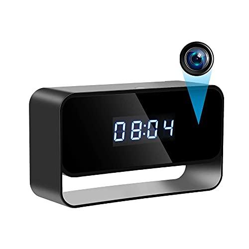 1080P Mini Reloj de cámara Relojes inalámbricos Cámaras HD WiFi Cubierta Cubierta de vigilancia Cámara Visión Nocturna Visión Nocturna 12/24 Horas Alerta de detección