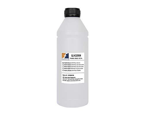 Glicerina Vegetal 1l +50ml (1050ml = 1,32kg) Glycerin, Glycerine 100% natural, grado EP, Humectante natural