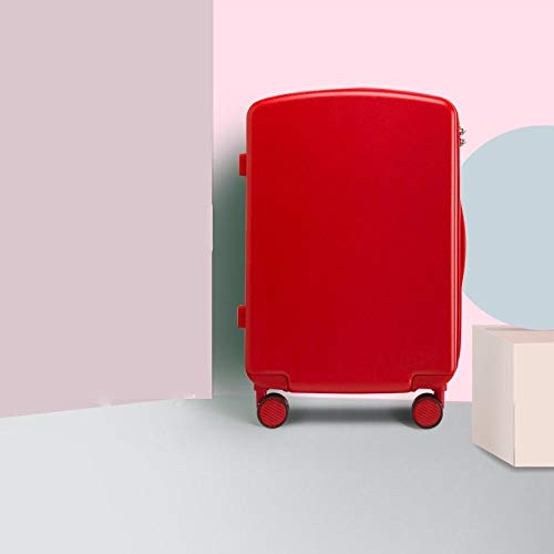 SFBBBO luggage suitcase Luggage Case Trolley Suitcase Spinner Mute Wheel PC Travel Rolling Wheels Luggage Carry On Boarding 18' Red
