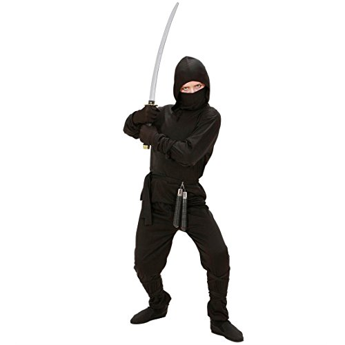 Amakando Kinder Ninjakostüm Ninja Kostüm 158 cm Samurai Kinderkostüm Krieger Fasching Asia Kämpfer Faschingskostüm Kampfsport Karnevalskostüm Sport Mottoparty Verkleidung Karneval Kostüme für Jungen