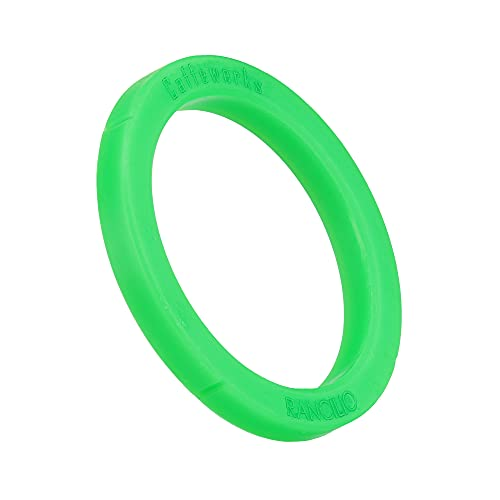 Uszczelka SW-K O-ring uszczelka sitkowa kompatybilna jako zamiennik ekspresów do kawy RANCILIO do parzenia kawy, uszczelnienie głowicy parzenia (zielone) Ø 74 x 57,5 x 8,5 mm
