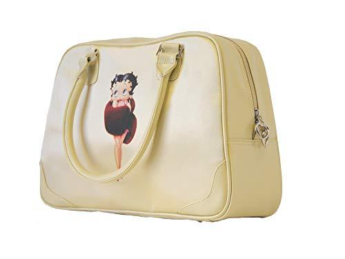 Betty Boop Elfenbeinfarbene Satin-Handtasche