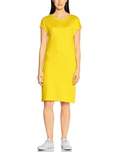Street One Damen 142597 Kleid, Shiny Yellow, 44