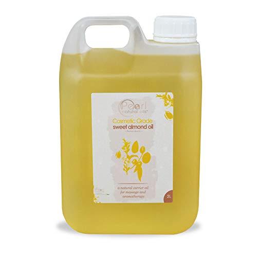 2 litros Aceite de almendras dulces, grado cosmético, prensado en frío 100% puro
