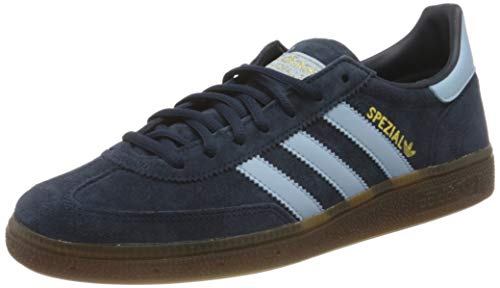 adidas Originals Mens Handball Spezial Sneaker, Collegiate Navy/Clear Sky/Gum,43 1/3 EU