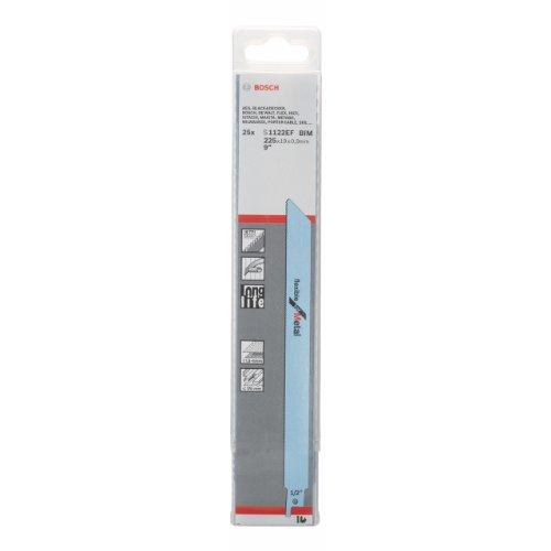 Preisvergleich Produktbild Bosch Professional 25 Stück Säbelsägeblatt S 1122 BF Flexible for Metal (für Metall,  225 x 19 x 0, 9 mm,  Zubehör Säbelsäge)