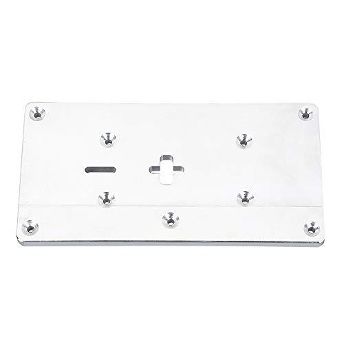 Kit de herramientas de accesorios de bricolaje Router de aluminio Insertar tabla placa con los tornillos de fijación for trabajar la madera Bancos Router Tabla Placa for sierra de calar Herramientas d