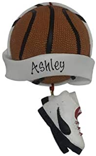 Basketball Banner Personalized Ornament - (Unique Christmas Tree Ornament - Classic Decor for A Holiday Party - Custom Decorations for Family Kids Baby Military Sports Or Pets)