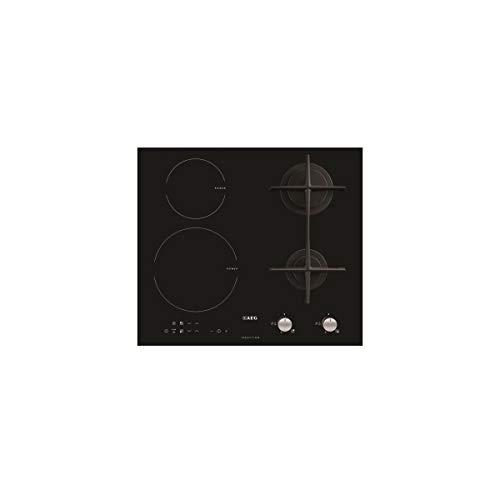 AEG HD634170NB Integrado Combinado Negro - Placa (Integrado, Combi hob, Negro, hierro fundido, Tocar, Frente)