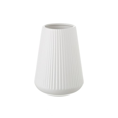 Dcasa - Jarrón de cerámica Blanco de diseño nórdico para decoración Vitta