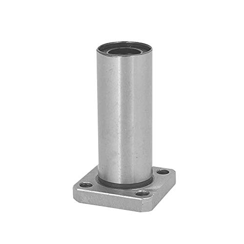 1PC LMK10LUU dr:10mm Long Square Flange Type Linear Bearing Bushings for 3D Printer Linear Rod Stick Electric Tool CNC Parts(color:Silver)