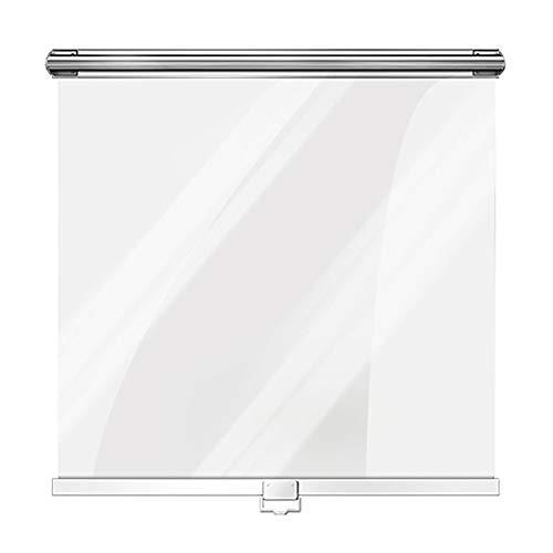 Estor Enrollable Persianas Enrollables de Plástico Transparentes con Mango, Persianas 100% Impermeables para Congelador Interior y Exterior, Vitrina Comercial, Largo 150cm (Size : 110×150cm)